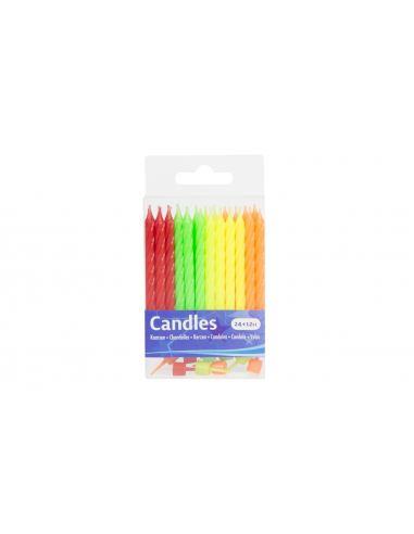 Birthday Candles Multicolor 24 pcs